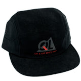 Quiet Life Reflective 7 Panel Strapback Hat (Black)