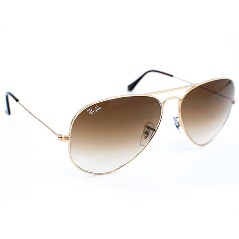 Ray Ban Aviator Large Metal Sunglasses (62f/Gold/Bronze Lens)