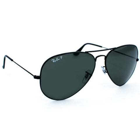 Ray Ban Aviator Large Metal Sunglasses (62f/Black/Black Polarized Lens)