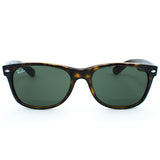 Ray Ban New Wayfarer Sunglasses (55f/Gloss Tortoise/Grey Lens)