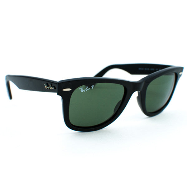 Ray Ban Original Wayfarer Sunglasses (50f/Gloss Black/Grey Polarized Lens)