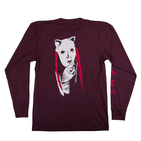 Welcome Audrey L/S Tee (Wine)