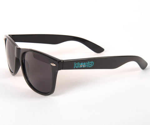 Krooked Eyes Sunglasses (Black/Blue)