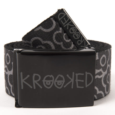 Krooked Sweatpants Web Belt (Black)