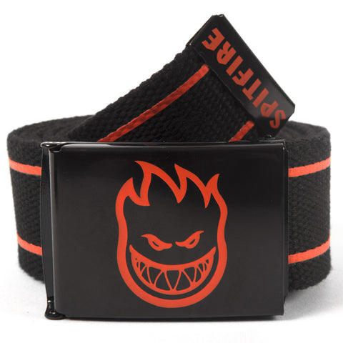 Spitfire Bighead Stripes Belt (Black/Orange)