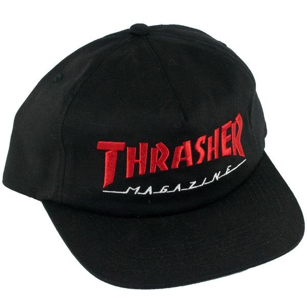 Thrasher Magazine Logo Two-Tone Snapback Hat (Black/Red)