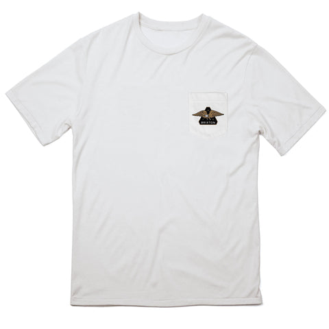 Brixton Turret S/S Pocket Tee (White)