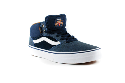 Vans Mens Gilbert Crocket Pro Mid Shoes (Xtuff/Dress Blues)