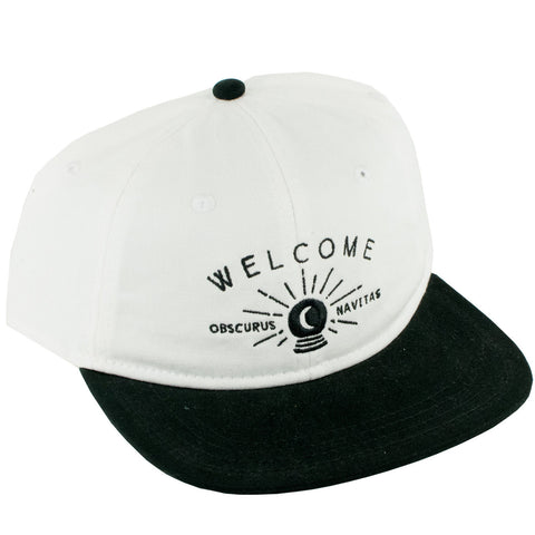Welcome Dark Energy Unstructered Slider Strapback Hat (White/Black)