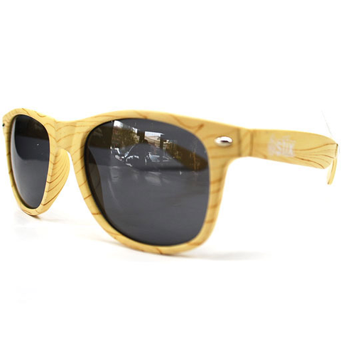 Stix Woody Sunglasses (Natural Wood/Smoke Lens)