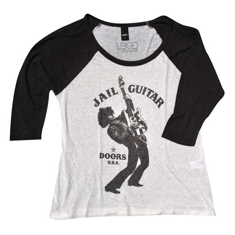 Obey Wayne Jail Doors Girls Raglan (Graphite/Natural White)