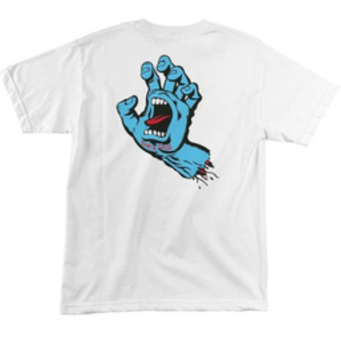 Santa Cruz Screaming Hand Regular S/S Tee (White)