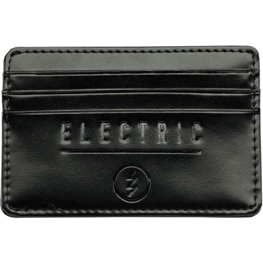 Electric Leather Card Case Wallet (Black)