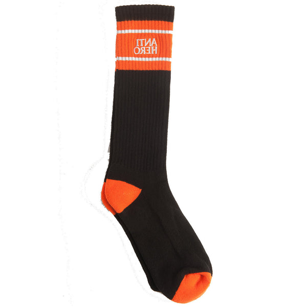 Anti Hero Eagles Up Calf Crew Socks (Black/Orange/White)