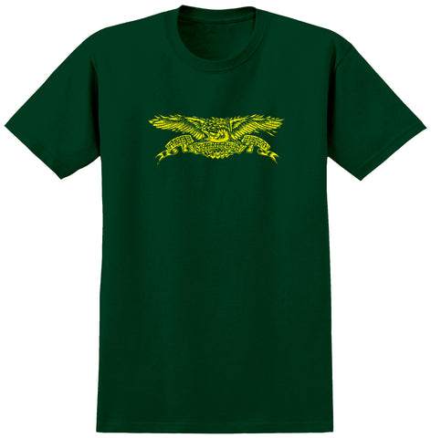 Anti Hero Sprack Eagle S/S Tee (Forest Green/Yellow)