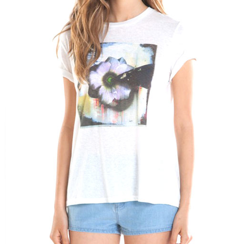 Obey Girls Teebs Flower 3 Tee (Dusty Light Grey)