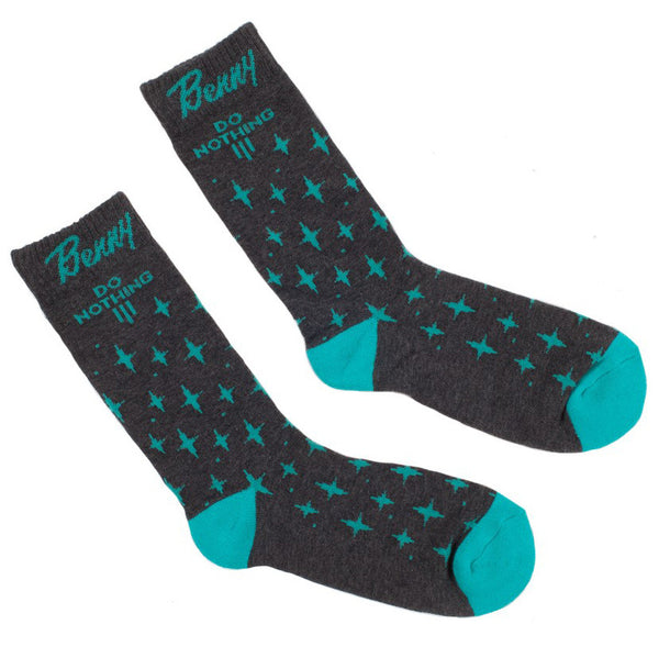 Benny Gold Cocktail Crew Socks (Charcoal)