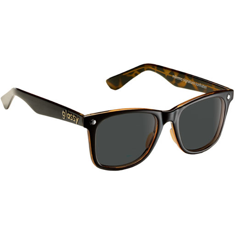 Glassy Mikemo Sunglasses (Black/Tortoise Polarized Lens)
