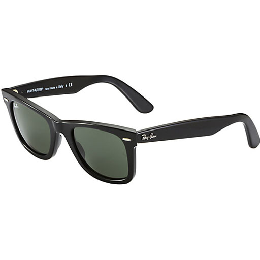 Ray Ban Original Wayfarer Sunglasses (54f/Gloss Black/Grey Lens)