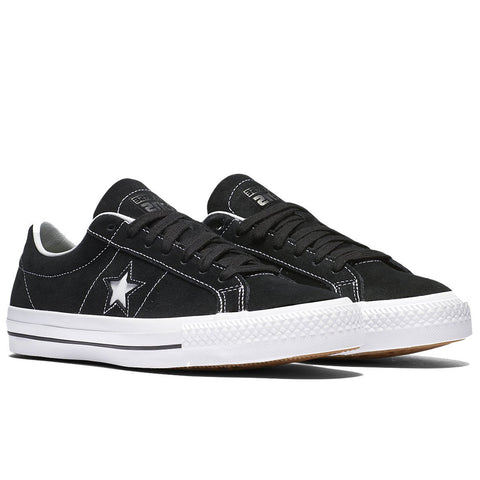 Converse Cons One Star Pro Shoes (Black/White/Black)