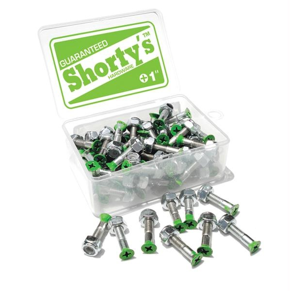 "Shortys Single Hardware Bolt and Nut (1""/Phillips/Green Tip)"