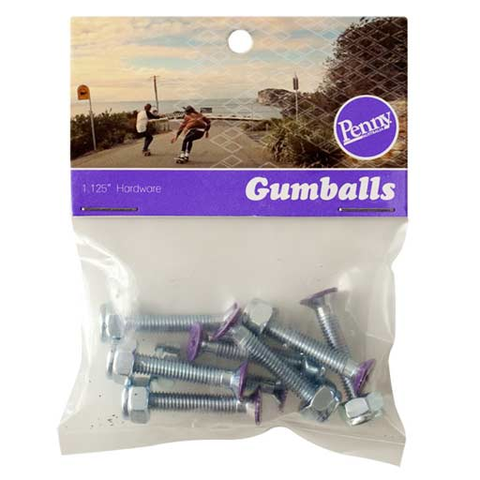 "Penny Gumball 1.125"" Hardware (Purple)"