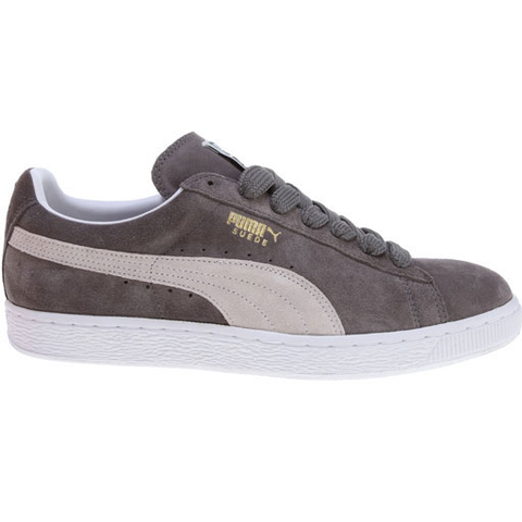 Puma Suede Classic Plus Shoes (Steeple Gray/White)