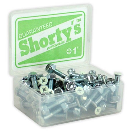 "Shortys Single Hardware Bolt and Nut (1""/Phillips/Glow Tip)"