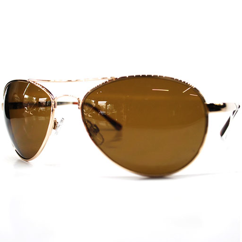 Stix 5-0 Aviator Sunglasses (Shiny Gold/Tort Tips/Grey-Green Lens)