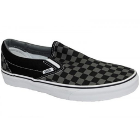 Vans Youth Classic Slip On Shoes (Black/Pewter)