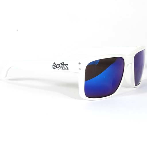Stix Player Sunglasses (White/Blue)