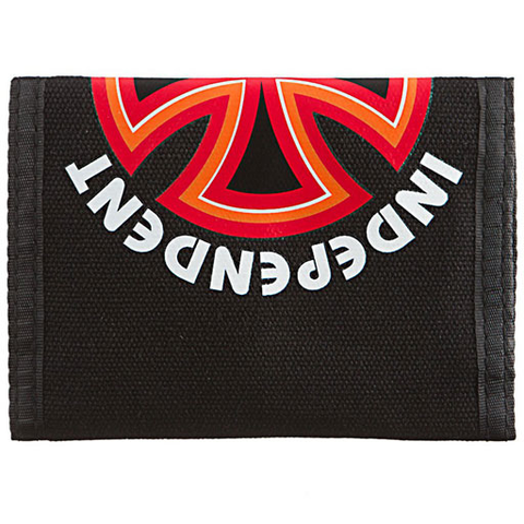 Independent Bauhaus Cross Tri-Fold Wallet (Black)