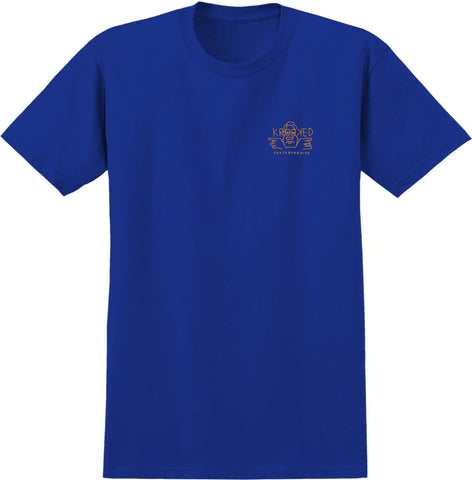 Krooked Dude Double S/S Tee (Royal)