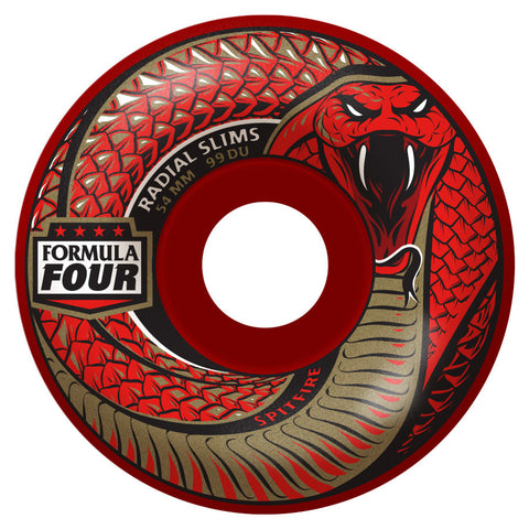 Spitfire Formula Four Death Radial Slim Wheels (Red/99d)