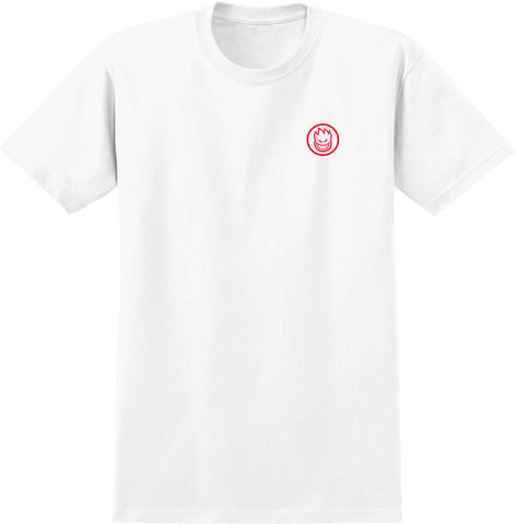 Spitfire Swirl Box S/S Tee (White/Red)