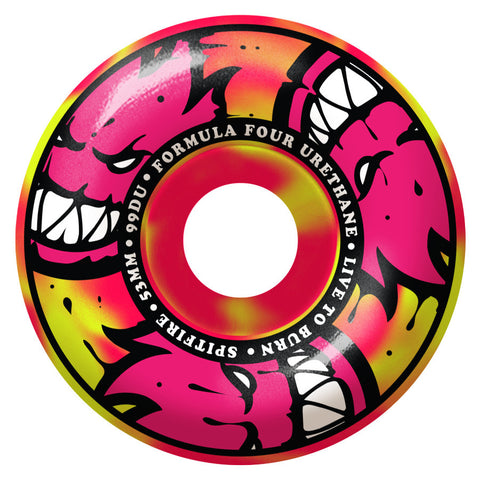 Spitfire Formula Four Afterburner Classic Wheels (Pink/Yellow/99d)