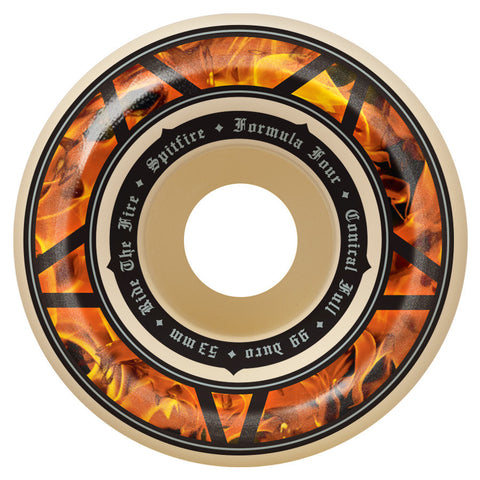 Spitfire Formula Four Hellfire Conical Full Wheels (White/99d)