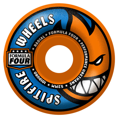 Spitfire Formula Four Orange Blast Radials Wheels (Orange/101d)