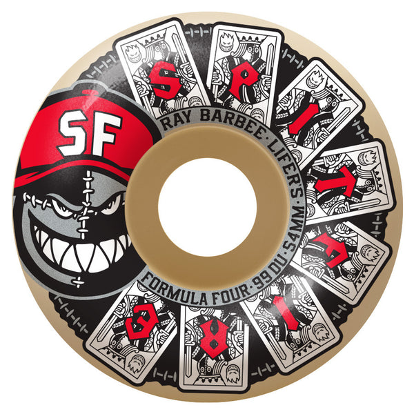 Spitfire Formula Four Barbee Lifers Wheels (White/99d)