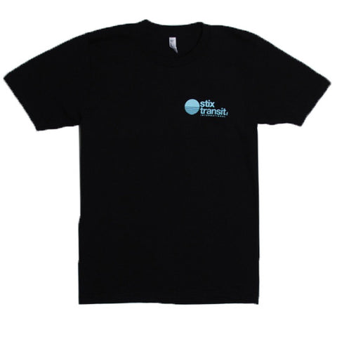 Stix Transit S/S Tee (Black/Light Blue)