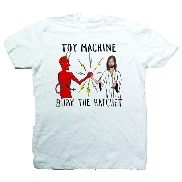 Toy Machine Bury The Hatchet II  S/S Tee (White)