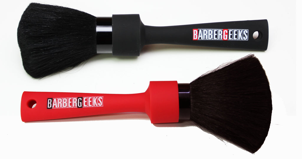 Barber Geek Neck Duster- Black & Red