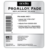 Andis Pro Alloy Fade Replacement Blade