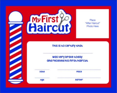 My First Haircut certificates