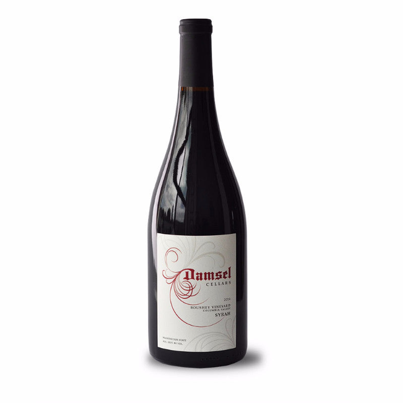 2014 Boushey Syrah by Damsel Cellars is 100% Syrah from Yakima Valley in Washington State.