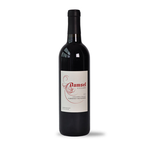 2013 Cabernet Sauvignon by Damsel is 100% Cabernet from Boushey Vineyard in Yakima Valley and Shaw Vineyard on Red Mountain AVA.