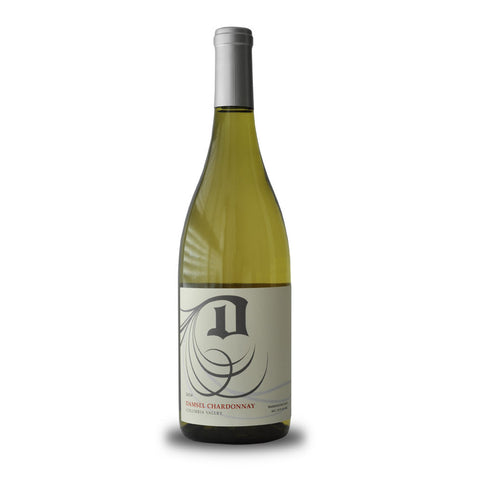 Damsel Cellars Columbia Valley Chardonnay with bright hints of lemon and melon.