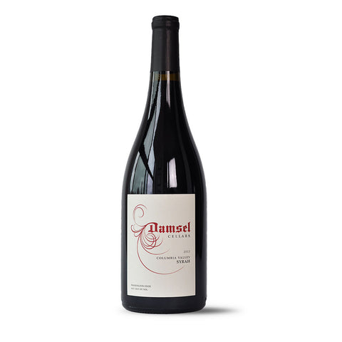 2013 Syrah by Damsel Cellars is 100% Syrah from Stillwater Creek Vineyard in Washington State.