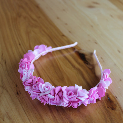Bright light pink headband