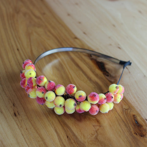 Yellow orange berries headband